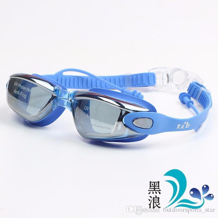 684c23e2e6c2 Gafas de natación ULTRAVIOLETA antiniebla de la natación de la prenda  impermeable del silicón profesional con el auricular para las mujeres de  los ...