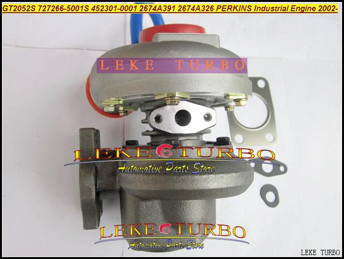 GT2052S 727266-5001S 452301-0001 2674A391 2674A326 Turbo Turbocharger For Perkins Industrial Engine 2002- Diesel (2)