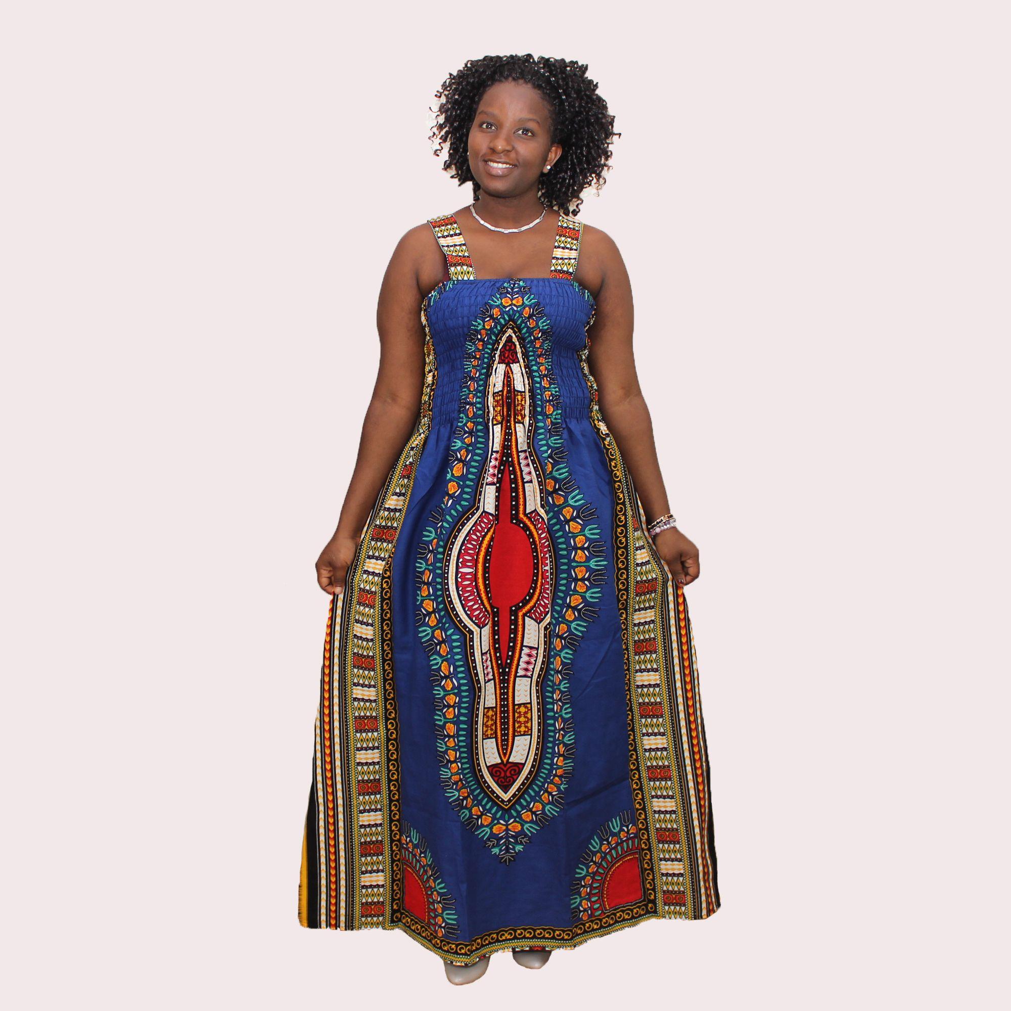 2017 Sexy O Neck Backless Dress Halter Summer Dashiki Casual ...