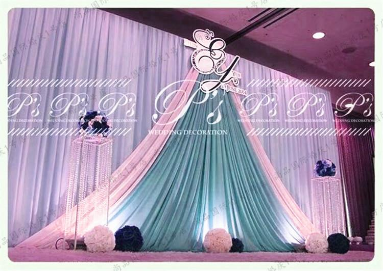 3m *6m wedding backdrop with swags valance Party background cloth Curtain Celebration Stage curtain Performance Background