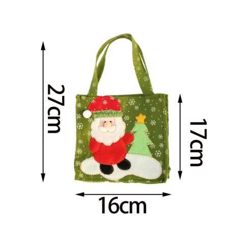 Sacchetto regalo di Natale con pupazzo di neve Babbo Natale Sacchetto di caramelle Regali di decorazione di Natale quattro stile tra cui scegliere