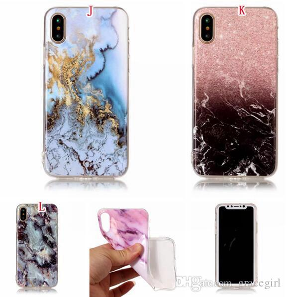Marble Stone Painted Soft TPU Case For Samsung Galaxy S9 PLUS NOTE 8 J3 J5 J7 2017 EU J330 J530 J730 LG K8 2017 Cell Phone Skin Cover