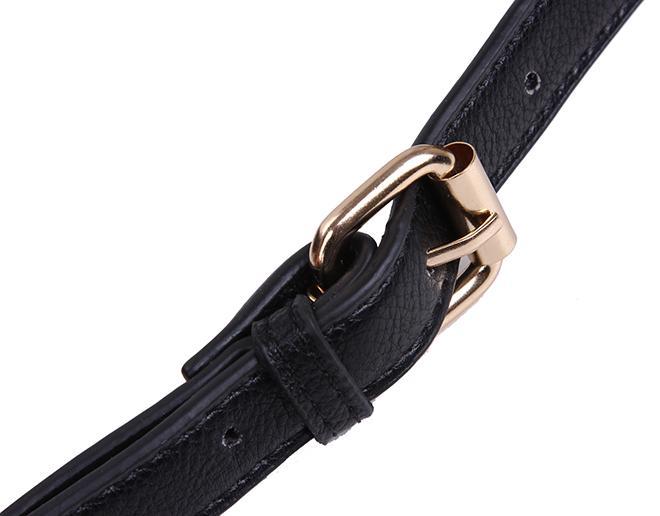 Women's Classic Small Bag Ladies Diagonal Cross Body Strap Bag Shoulder Messenger Bag Handbag Purse 3192 Black White Khaki