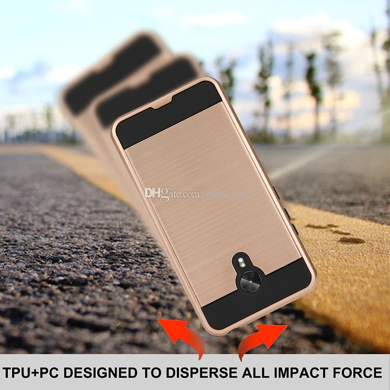 BLU Vivo 8 armor Case Anti Scratch Drop Proof Shock Absorption Hybrid TPU + PC 2 in 1 Case for BLU Vivo 8