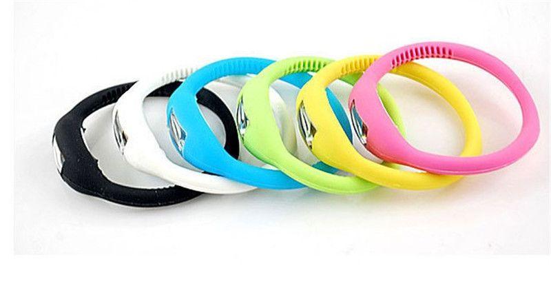 Nuevos Hombres de las mujeres Anion Health Relojes Girl Boy Deporte Negativo Ion Silicone LED Pulsera Sport Digital LED Relojes Relojes de pulsera
