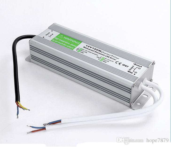 100W DC 12V 24V 36V Transformers waterproof LED power supply led driver for outdoor led Lighting adapter input AC 110V~130V 170V~220V