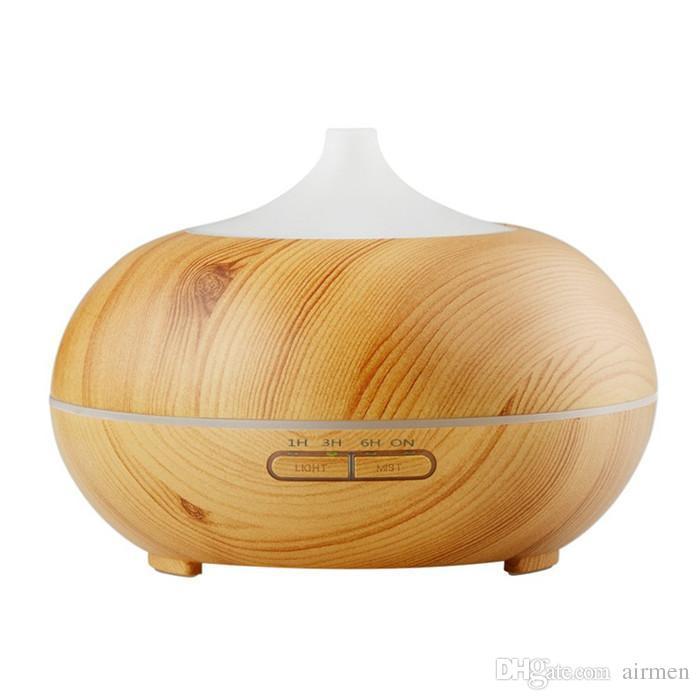 New 300ml Aroma Essenziale Diffusore Olio Diffusore in legno Grano ad ultrasuoni Cool Nebbia Umidificatore ufficio casa camera da letto soggiorno yoga spa tappo dell'acqua