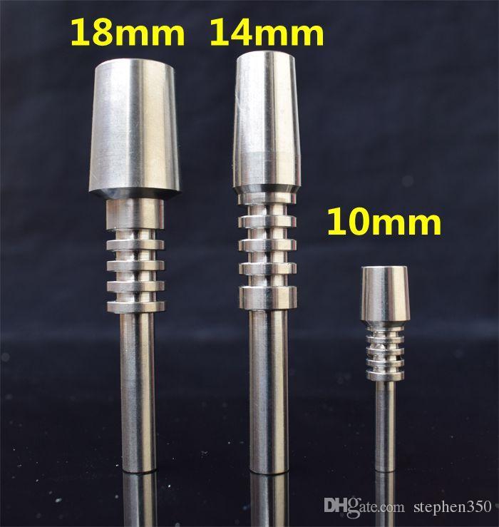 DHL gratuit! 10mm 14mm 18mm Quartz Nail Pour Kit De Collecteur Nectar Tuyau De Verre Ongle Inversé Titane Astuce VS Céramique