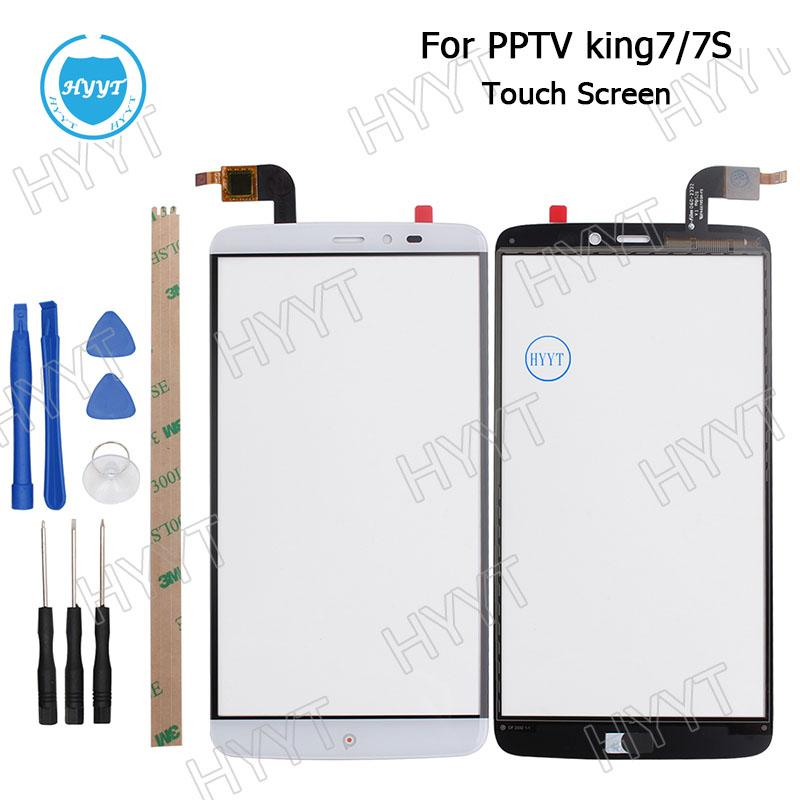 Wholesale- For PPTV KING 7/7S Tested Original 6inch Sensor Touch Screen Perfect Repair Parts Touch Panel+Tools+Adhesive Free Shipping