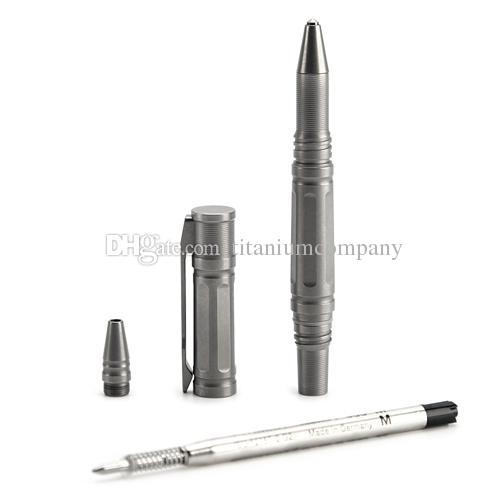 Titanium TC4 EDC 125 millimetri penna tattica lunga autodifesa martello di emergenza 32.8g cnc lavorato anodizzato oro viola di alta qualità