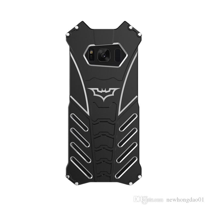R-JUST batman metal aluminum Shockproof Cover case for samsung galaxy S8/S8 plus/S7/S7 edge/S6 edge+ Armor anti-knock phone cases
