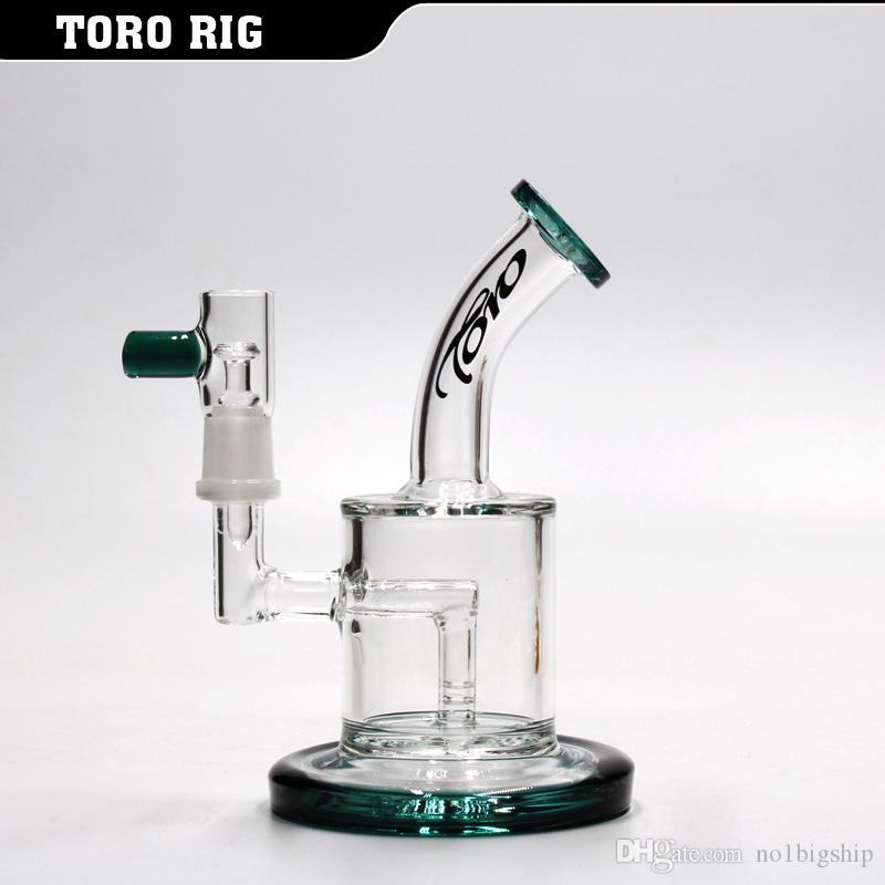 "6""glass oil rig colors dab rigs water pipes recycler bong smoking pipe 5MM thick"