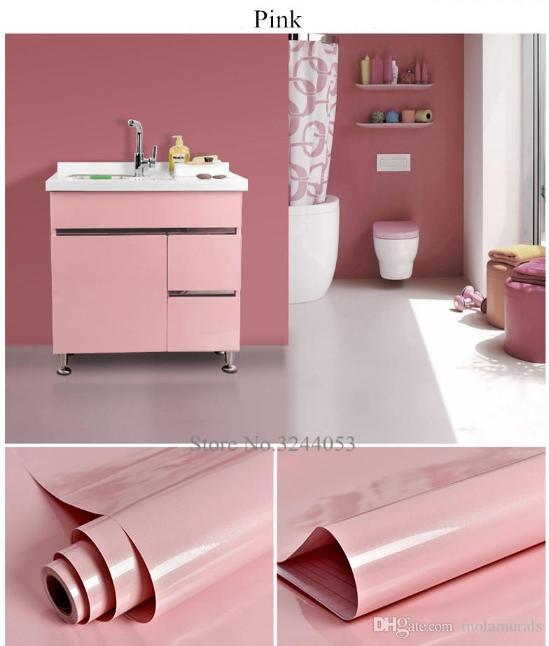 PVC Self Adhesive Wallpaper Roll Modern Kitchen Wall Paper Cupboard Cabinet  Furniture Stickers Modern Wall Papers Home Decor Adhesive Wallpapers Roll  Modern ...