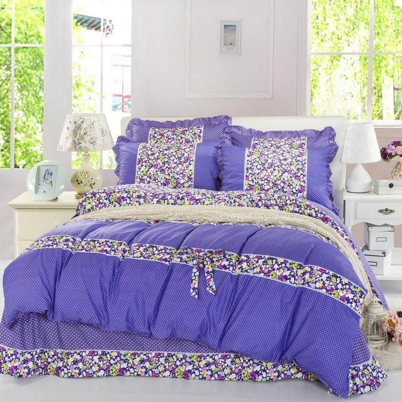 DHL VEYA FEDEX Yatak Setleri Hello Kitty Dantel Kenar Yatak Malzemeleri 4 adet / takım Nevresim Çarşaf yastık Ev Tekstili ücretsiz kargo