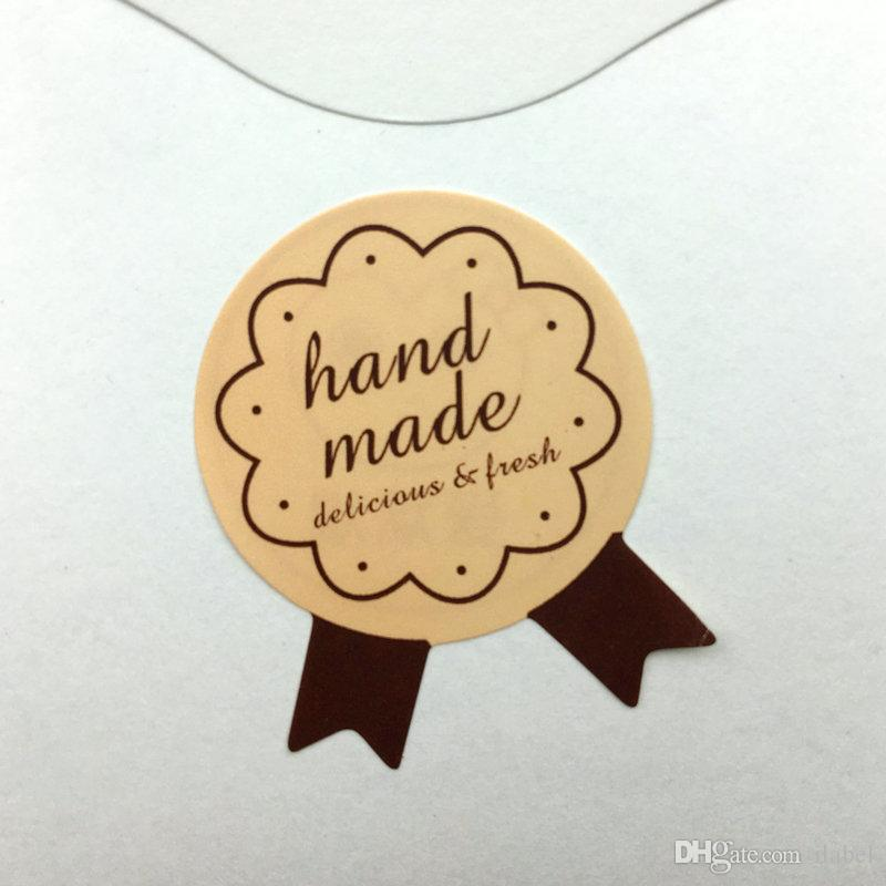 1200 pz Handmade Sticker 28 * 35mm 1.1