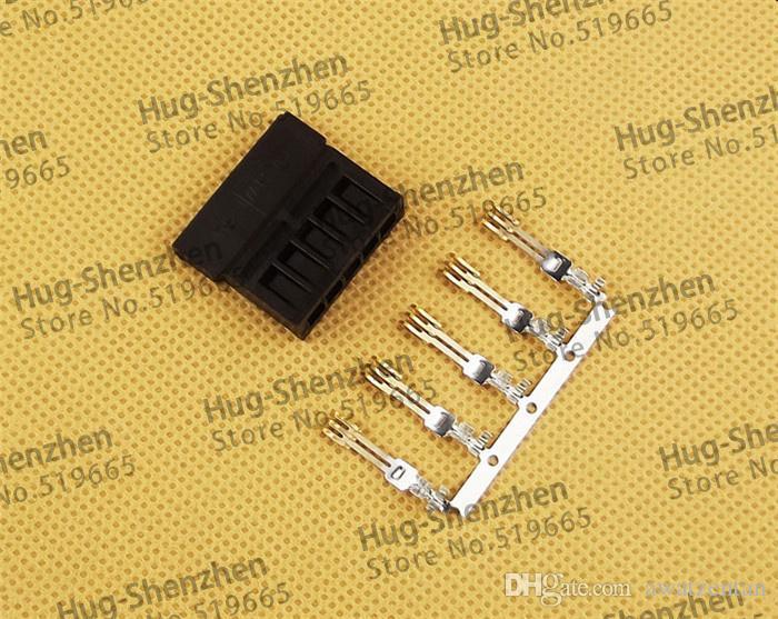 Pin tipo 3811- Connettori di alimentazione SATA terminali di cablaggio un set di: shell + terminale