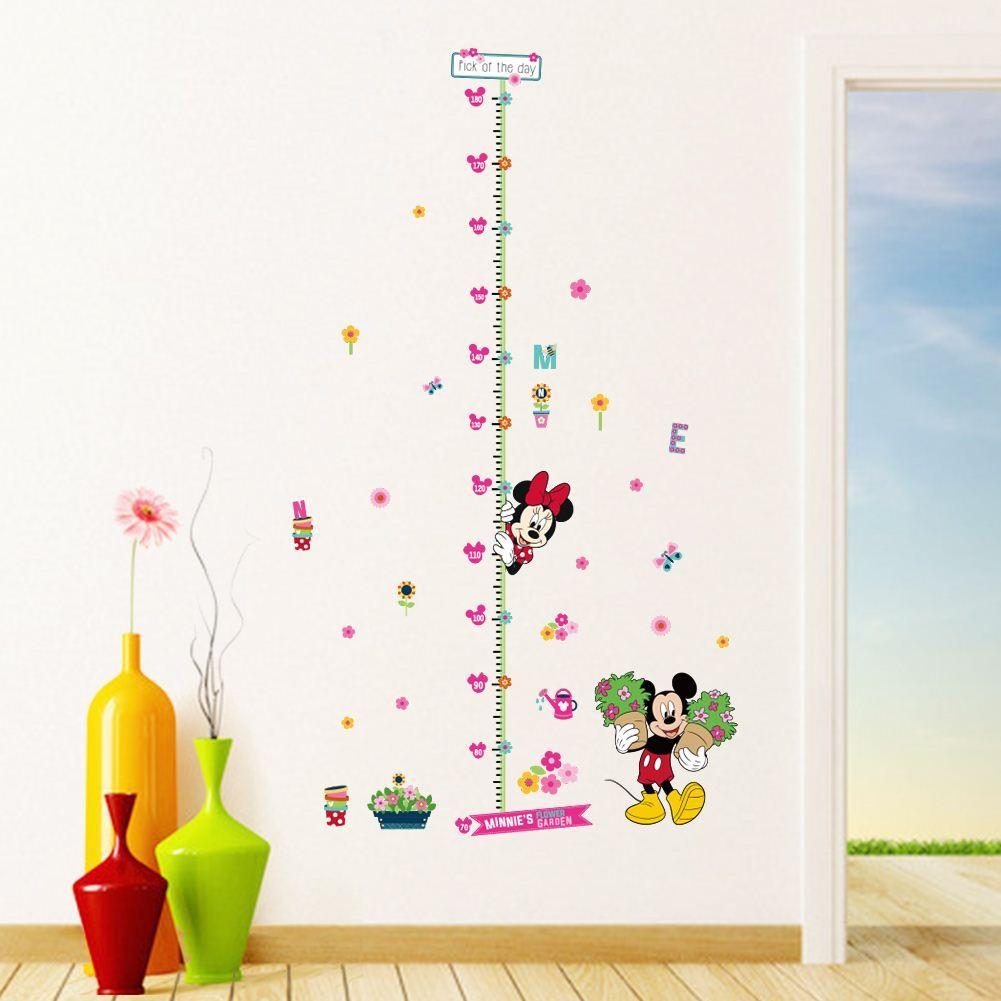 minnie mickey growth chart wall stickers for kids room cartoon see larger image