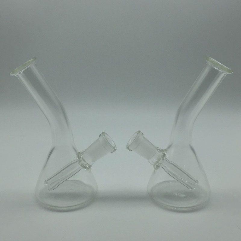Mini Glass Beaker Bongs With free 4mm Quartz Banger Nail & Keck Clips Oil Rigs Glass Bongs Glass Water Pipes