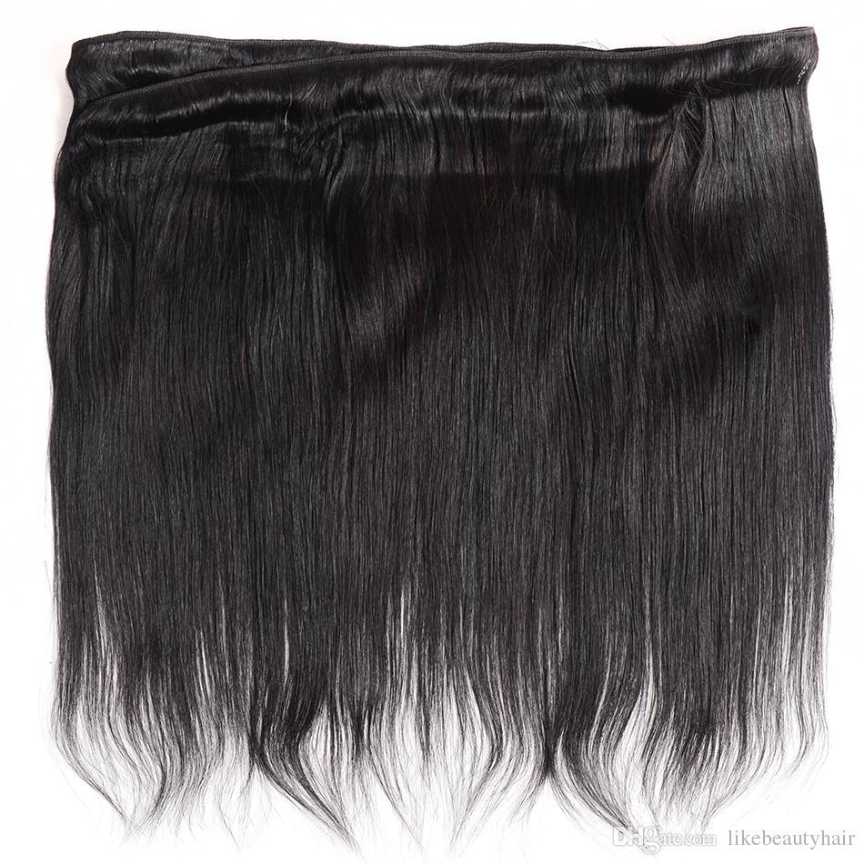 Perulu Hint Malezya Kamboçyalı Brezilyalı Bakire Saç Örgü 3 Demetleri Düz Saç Dalga İnsan Saç Uzantıları 30 inç-40 inç Uzun Inç
