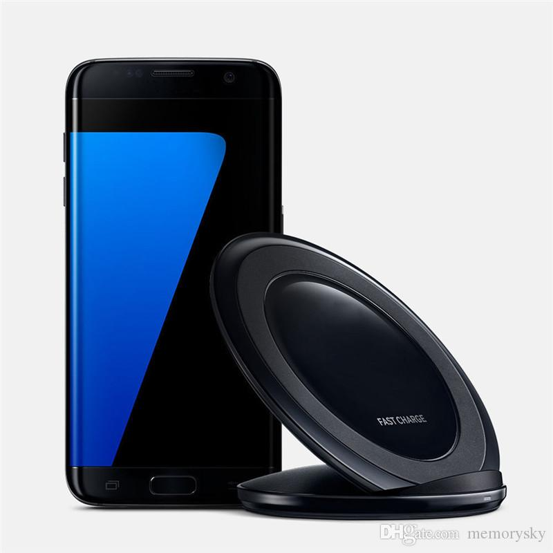 New Vertical Fast Charger wireless charger charging stand Dock For Samsung Galaxy S6 Edge S7 Edge S8 plus Note 5