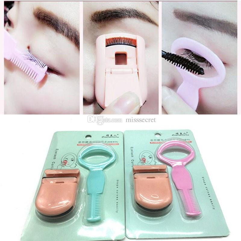 a3d7938f8a8 Portable Eyelash Curler Extension Applicator Remover Clip Eyebrow Eye Lashes  Tweezers Nipper Tool Mini Eyes Curling Card For Lashes Eylure Lashes  Permanent ...