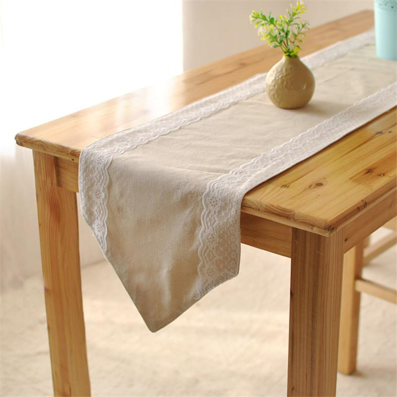 Bz381 Decorative Elegant Lace Table Runner Cotton Lace Coffee Table Flag  Home Decoration Cloth Vintage Design Lace Wholesale Table Runners Wide Table  ...