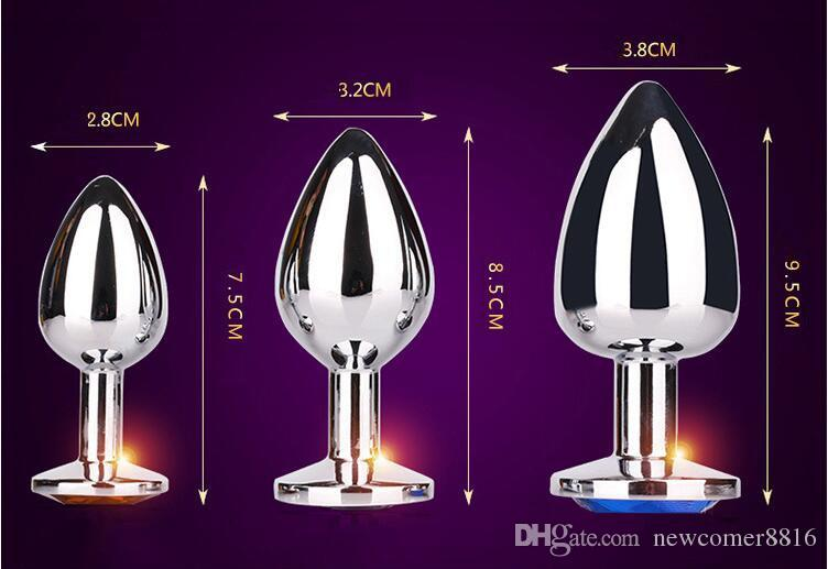 3 sizes Stainless Steel Attractive Butt Plug Rosebud Anal plugs Jewelry sex toys for couple safe and nontoxic buttplug