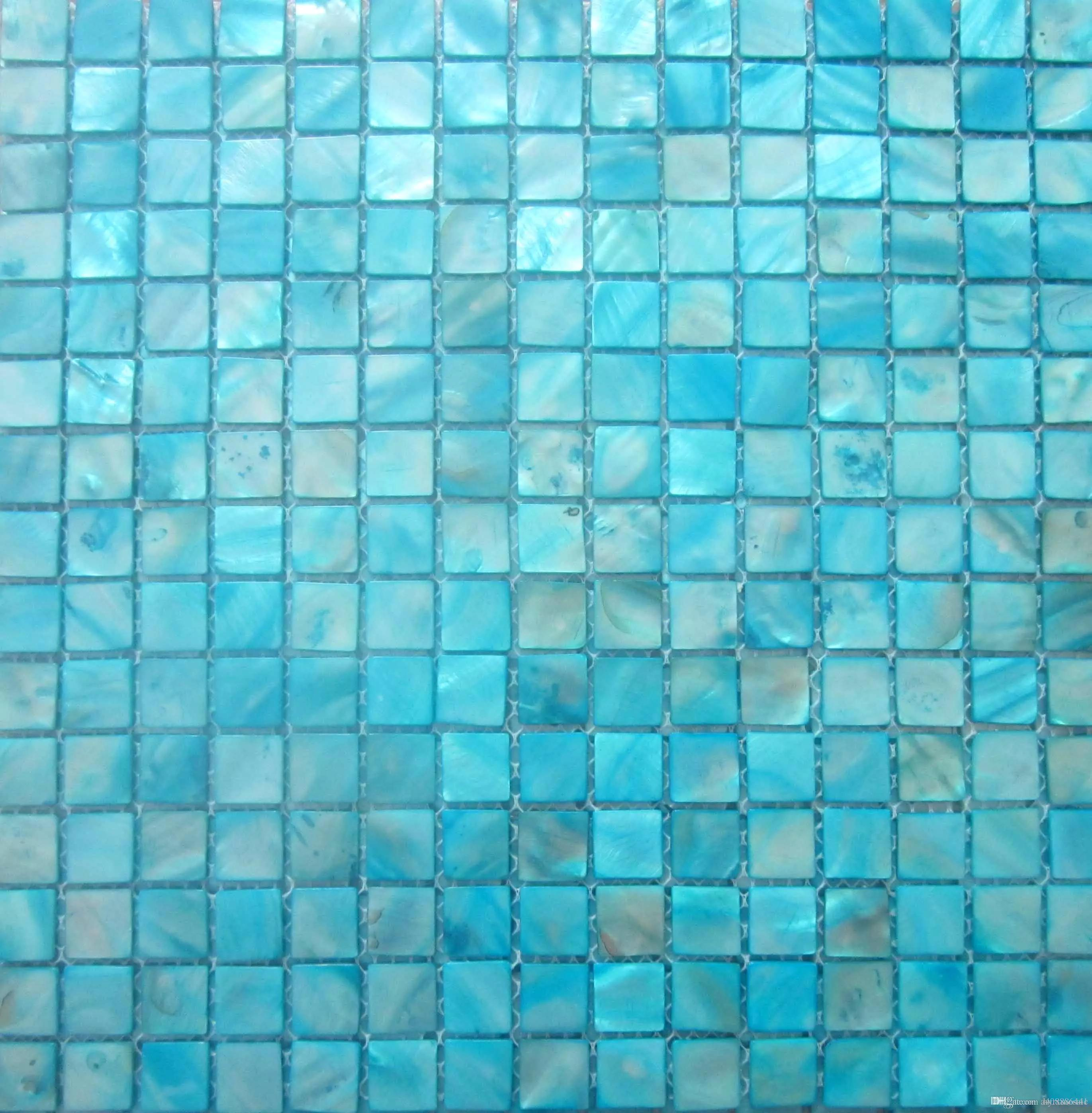 2017 shell mosaic tiles, blue mother of pearl tiles, kitchen