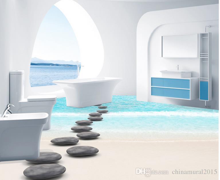 3d piano carta da parati pavimenti delle meraviglie bagno soggiorno vinile pittura piano adesivi
