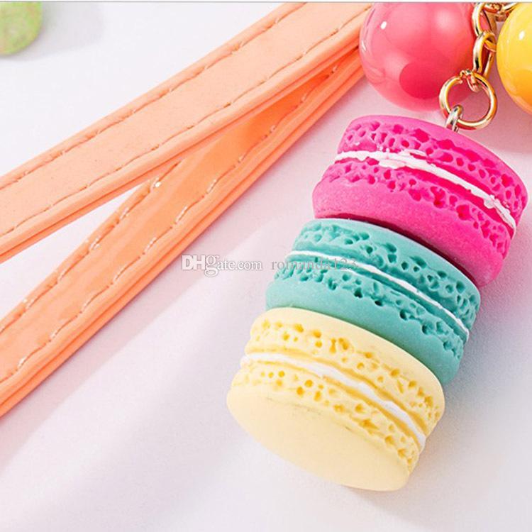 La catena chiave del dolce di Macarons nasconde il favore ed i regali della festa nuziale dei portachiavi del portachiavi del pendente della corda Keychains DHL libera il trasporto