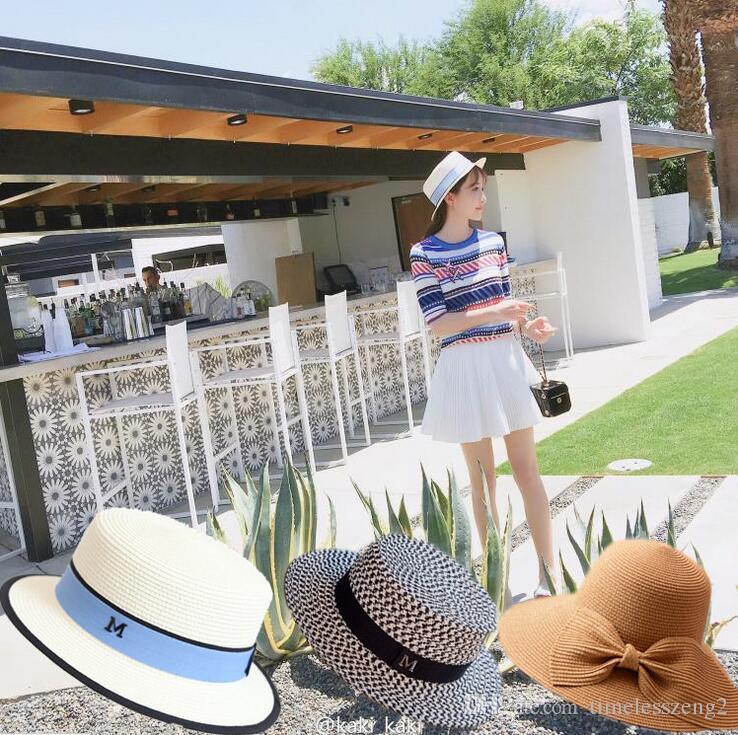 Summer Lady Hats Fashion Design Beach Sunscreen Sun Hat Folding ... daa9588c8a0f