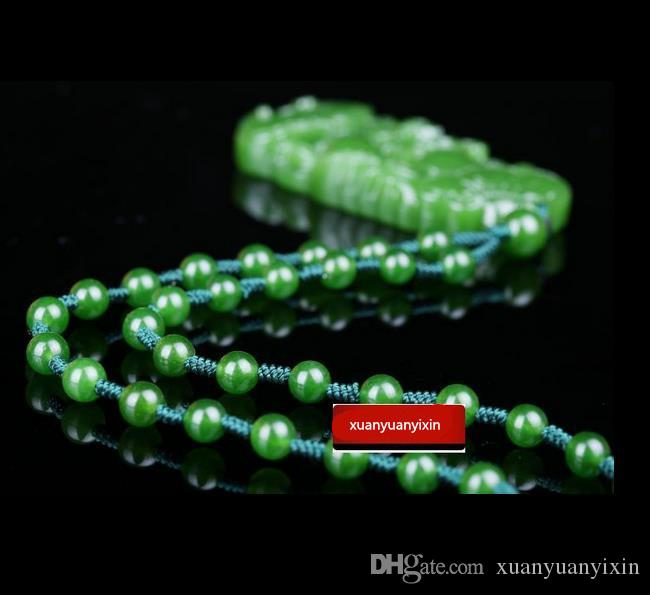 Natürliche authentische und Hetian Jade Spinat grün Ruyi Anhänger Jade Segen Ruyi Männer und Frauen Anhänger Halskette