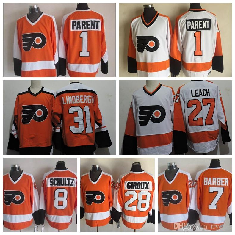reputable site da105 de519 Philadelphia Flyers Hockey Jersey 1 Bernie Parent 8 Dave Schultz 7 Bill  Barber 28 Claude Giroux