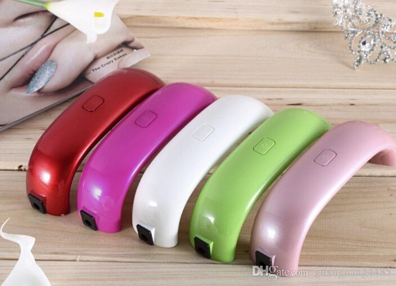 Mini USB 9W 3 LED Secador de Uñas UV Lámpara de Curado Lámpara de Uñas de Esmalte de Uñas Poderosas Lámpara UV de Uñas Polacas herramientas faciales Secado rápido de múltiples colores