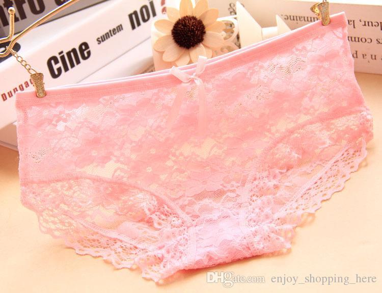 Kızlar kadınlar için seksi dantel külot iç çamaşırı çiçek külot calcinha lingerie perspektif şeffaf örgü Net iplik