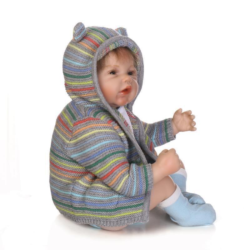 9c2634c39 20 Inch Vinyl Silicone Reborn Baby Doll Toys Lifelike Newborn Kids Gift  Bear Toys Handmade Reborn Baby Doll Strawberry Shortcake Dolls Shop Dolls  From ...