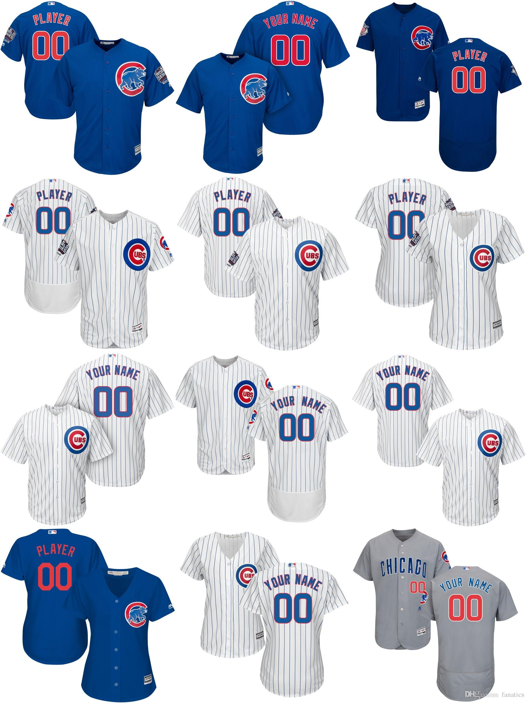 344169c1e ... Mens Womens Kids Customized Personalized Any Name Any Number Chicago  Cubs 2016 World Series Champions Blue .