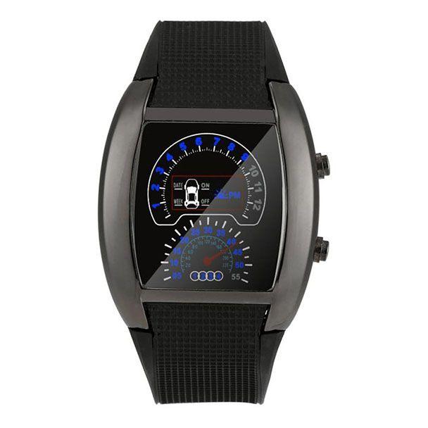 Xiniu Fashion Aviation Turbo Dial Flash LED Watch Gift