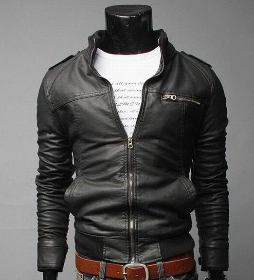 2017 Veste en cuir pour hommes Nouveau modèle de locomotive Vêtements en cuir Vêtements pour hommes Manteau ample Cuir pour hommes Ventes en gros