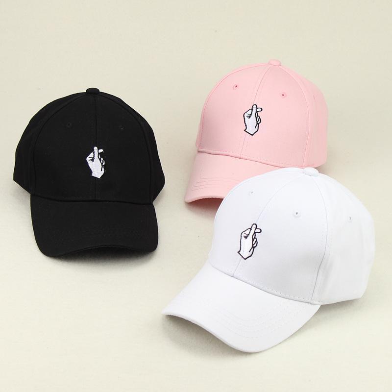 love gestures finger embroider golf baseball mens style hats cap menswear sale