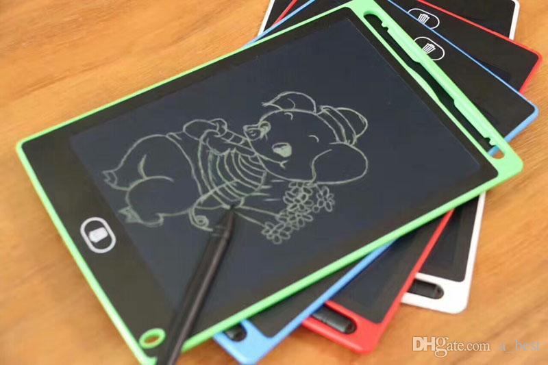 8.5 بوصة LCD الكتابة اللوحي رسم لوحة السبورة الكتابة اليدوية وسادات هدية للبالغين أطفال بلا أوراق المفكرة أقراص المذكرات مع القلم ورفع مستواها