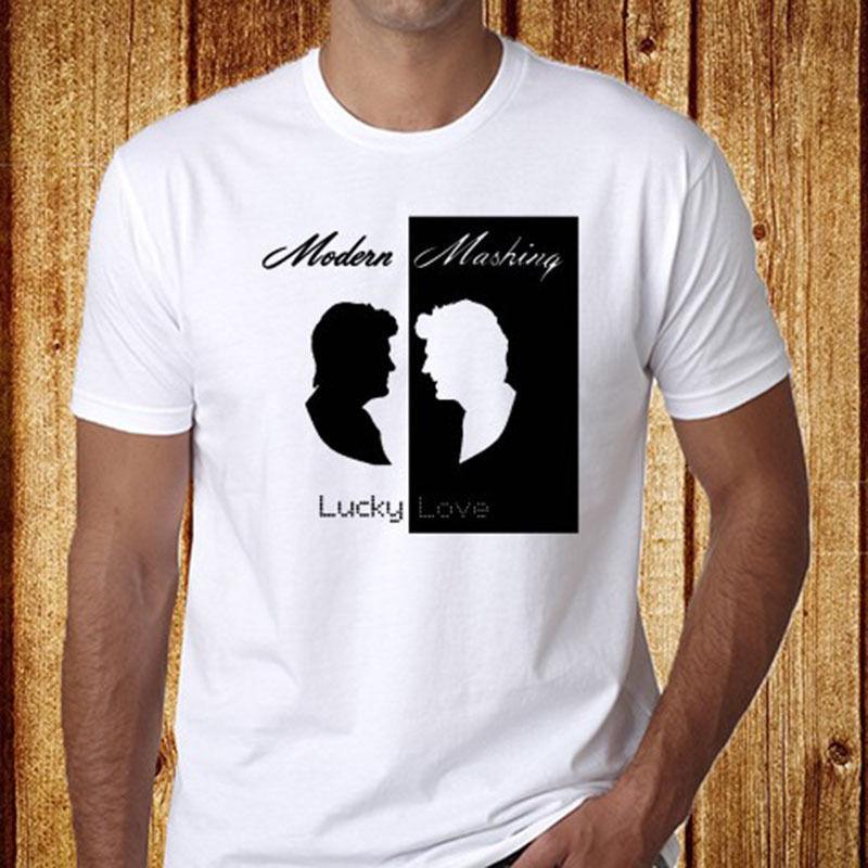 timeless design 77b48 ad23f T-Shirts der Art- und Weisemänner Neue moderne Unterhaltung * Modernes  Mashing Pop-Musik-Duo-weißes T-Shirt der Größe S-3XL Verkauf 100% ...