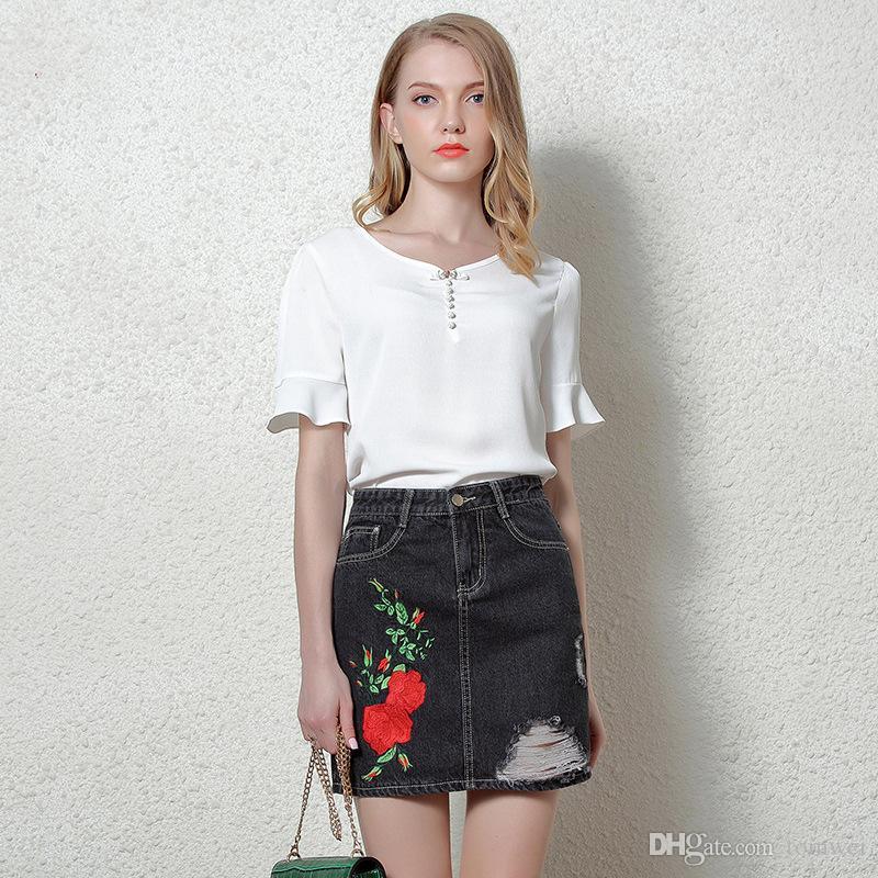 2017 Black Pencil Jeans Skirts Tight Denim Skirts High Waist ...