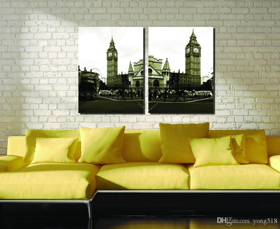Top Fashion Special Offer Wholesale Modular Picture City Impression England Big Ben Modern Decoration In The Living Room