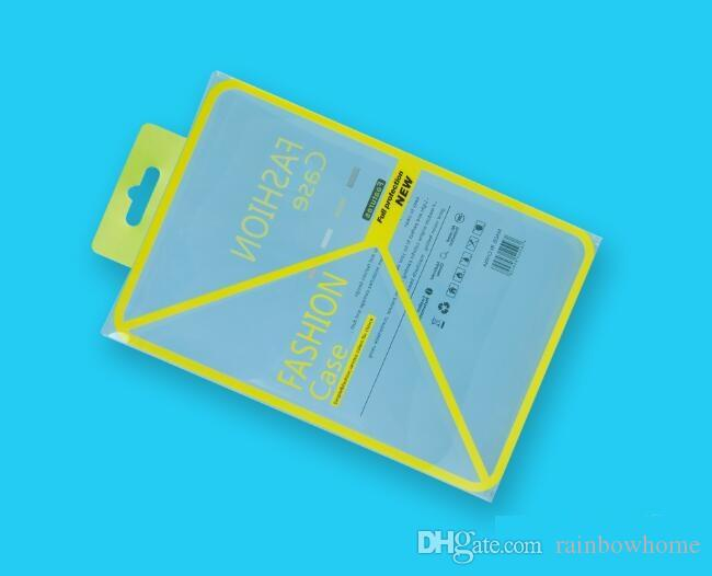Empty Yellow PVC Plastic Retail Package Packaging box boxes for 7.9 iPad mini 1 2 3 4 PU Leather Case