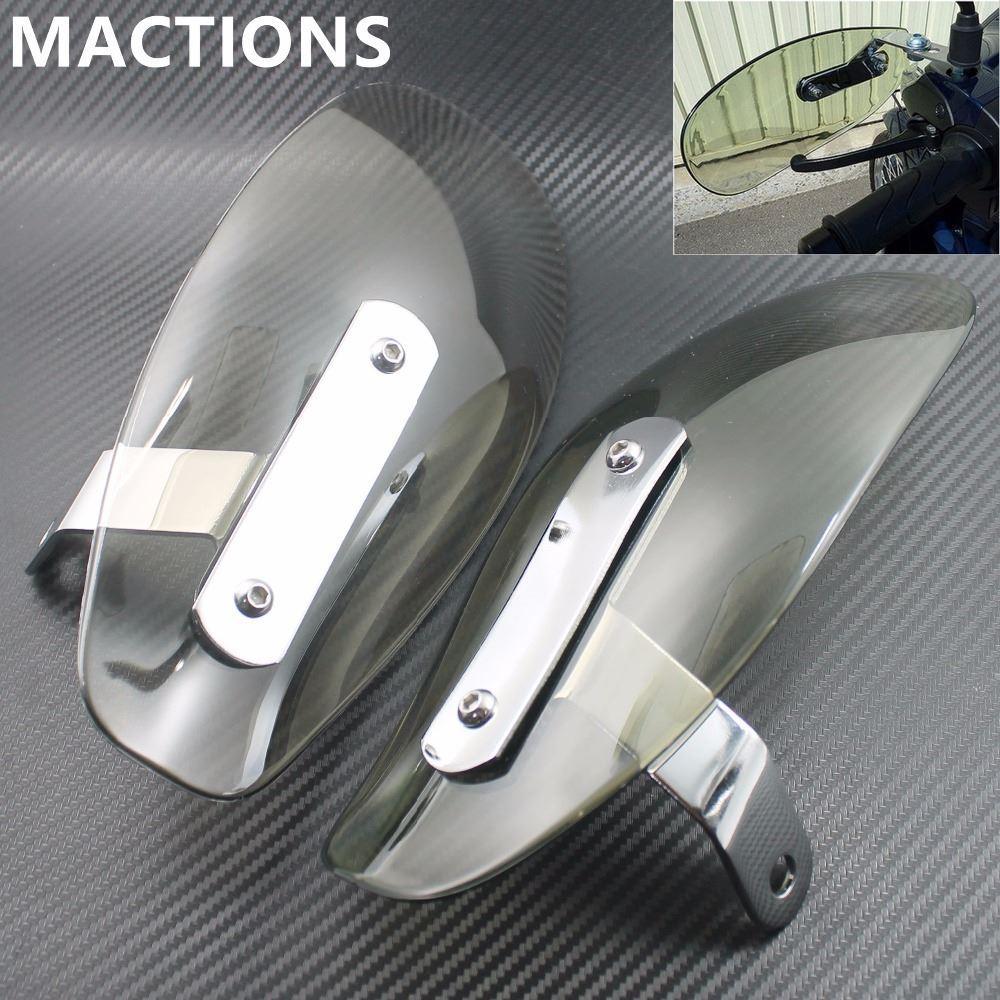 Smoke Motorcycle Handguard Hand Guards Wind Cold Protector Windshield Deflectors