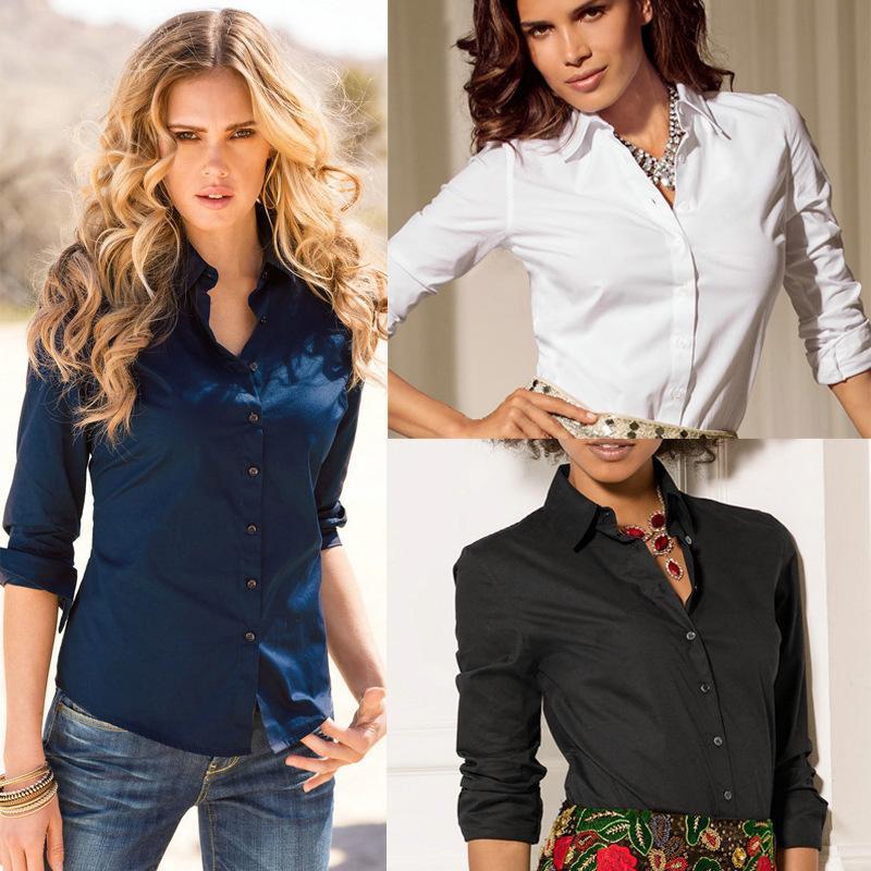 Blouse blanche élégante chemise femmes S-2XL dames chemises de bureau formelles chemisiers occasionnels mode blusas femininas manches longues femmes dames tops