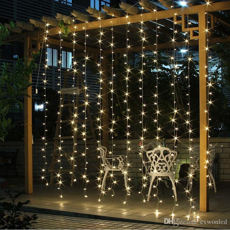 Décoration de mariage lumière 3Mx3M 300leds conduit chaîne de rideau fée lumière 300 ampoule Noël De Noël De Mariage maison jardin partie de décoration