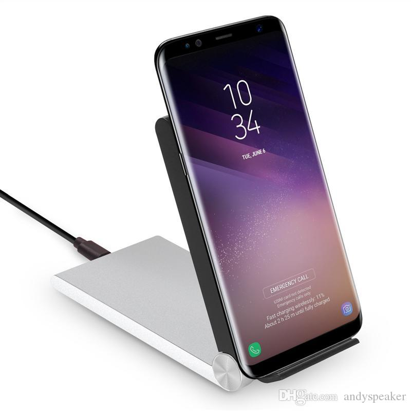 QI Certified Wireless Charger für iPhone X 8 Plus für Samsung Note 8 S8 Plus FC32 Unterstützung Schnellladung 10W Einstellbarer Halter Ladegerät 10pcs / up