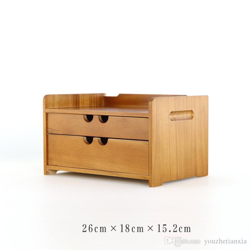 tool cabinet case Wooden desk storage drawer debris cosmetic storage box bin jewelry office Creative gift Home